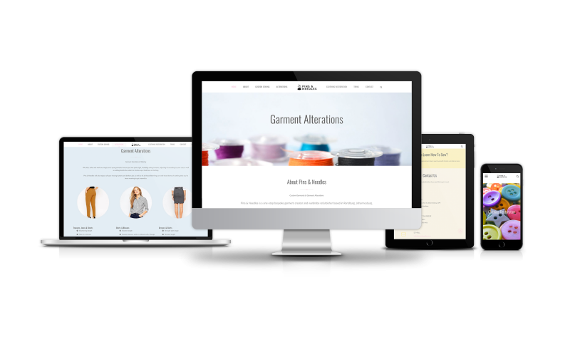 Pins & Needles Website Development